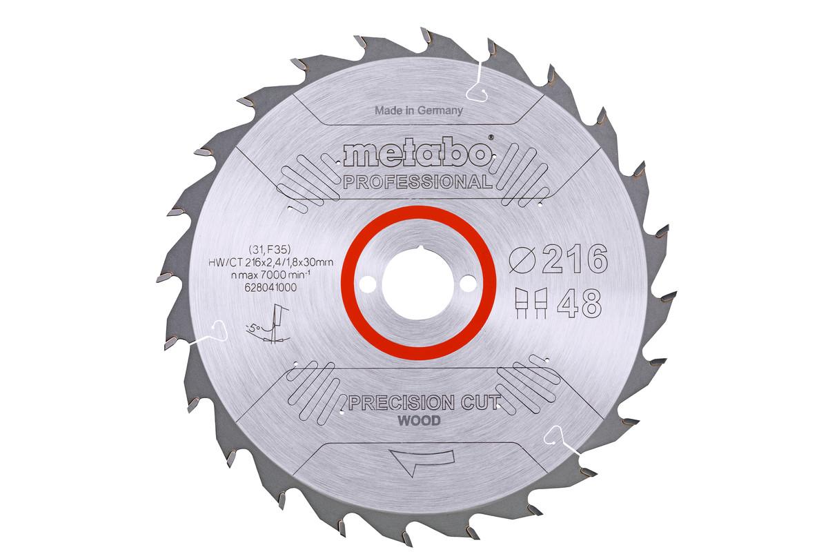 "Pilový kotouč ""precision cut wood - professional"", 216x30, Z48 WZ 5° neg. (628041000)"