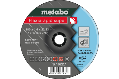 Flexiarapid super 180x1,6x22,23 Inox, TF 42 (616227000)