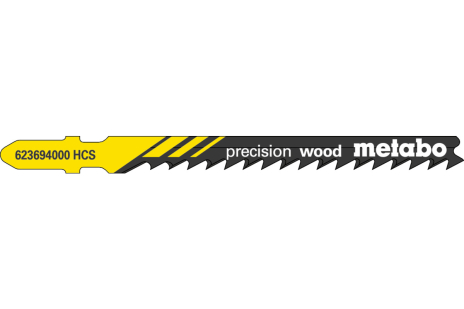 5 plátků pro přímočaré pily, dřevo, profesionální 74 / 4,0 mm (623694000)