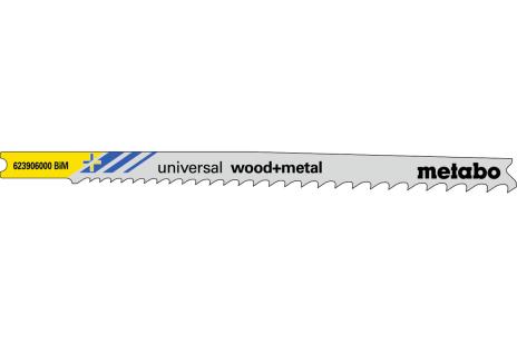 5 U plátků pro přímočaré pily, dřevo a kov, pionier, 107 mm (623906000)