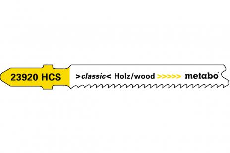 5 plátků pro přímočaré pily, dřevo, classic, 66 mm/progr. (623920000)