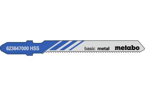 """5 plátků pro přímočaré pily """"basic metal"""" 51/ 1,2 mm (623647000)"""