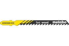 5 plátků pro přímočaré pily, dřevo, profesionální 74 / 4,0 mm (623633000)