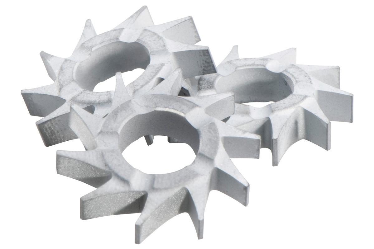 Frässterne Flachzahn (Set=15 Stück) (628213000)