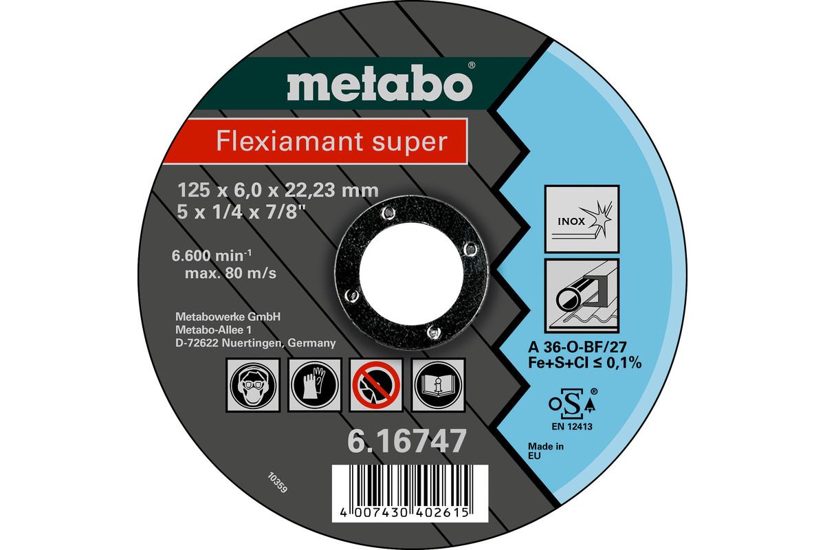 Flexiamant super 125x6,0x22,23 Inox, SF 27 (616747000)