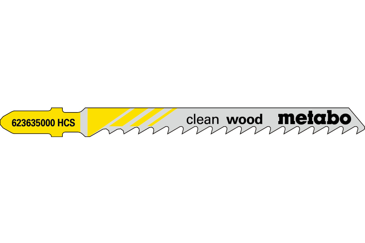 """5 Stichsägeblätter """"clean wood"""" 74/ 4,0 mm (623635000)"""