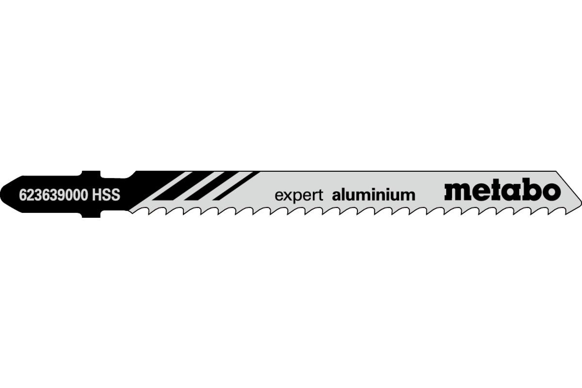 "5 Stichsägeblätter ""expert aluminium"" 74/3,0mm (623639000)"