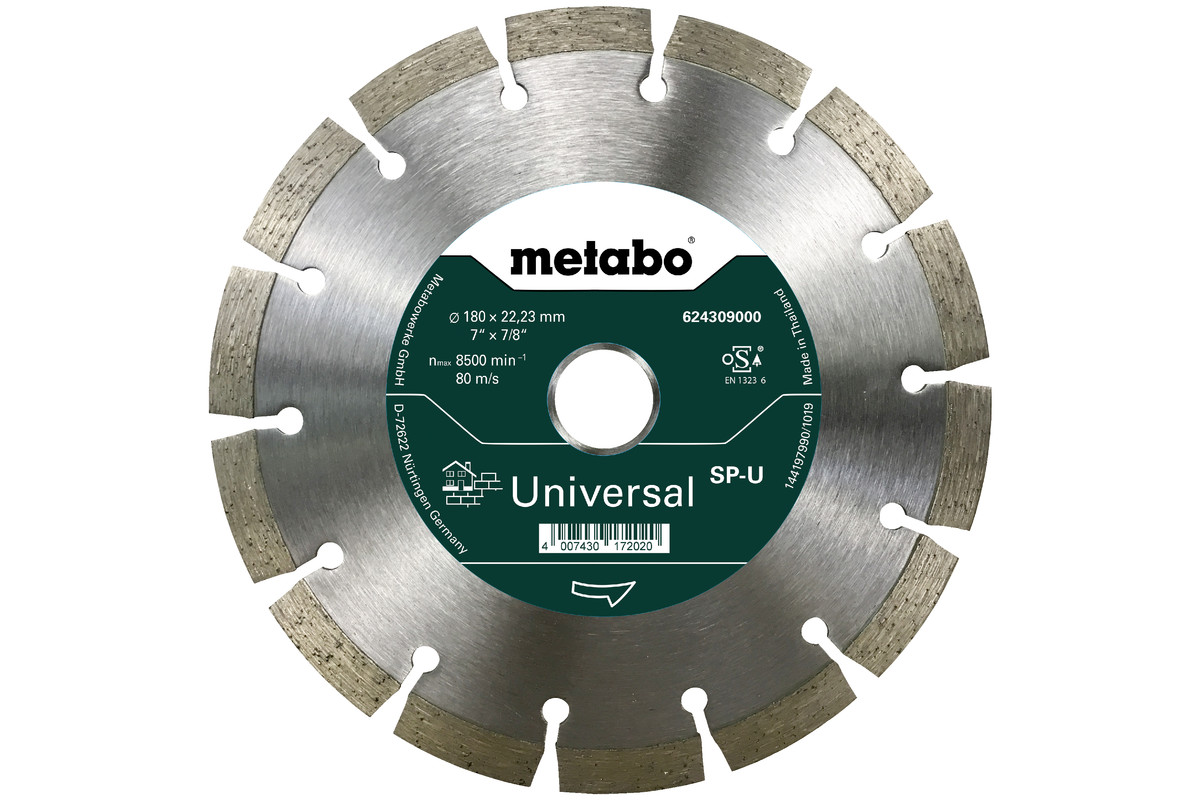 """Diamanttrennscheibe 180x22,23mm, """"SP-U"""", Universal """"SP"""" (624309000)"""