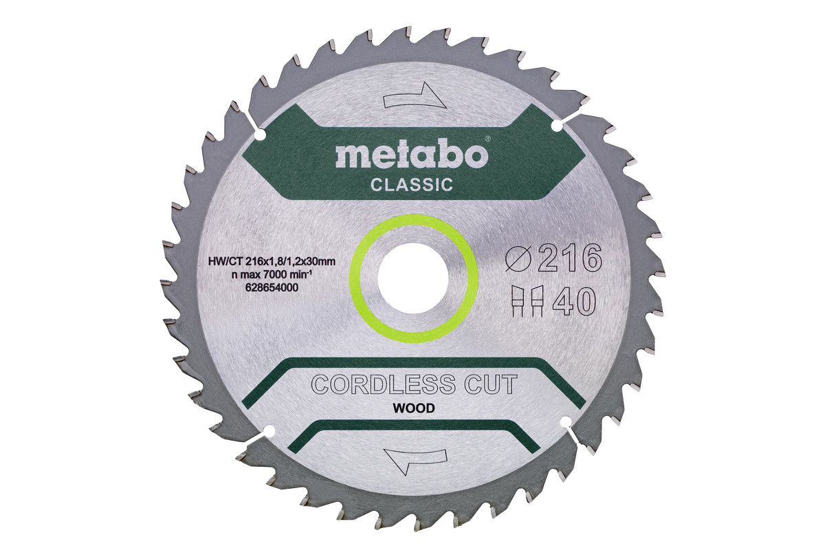 "Sägeblatt ""cordless cut wood - classic"", 216x30 Z40 WZ 5° /B (628654000)"