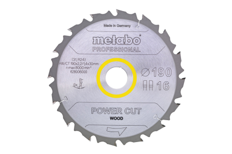 "Sägeblatt ""power cut wood - professional"",  152x20, Z12 FZ 15° (628001000)"