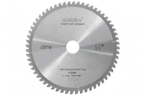 Kreissägeblatt HW/CT 216x30, 60 FZ/TZ, 5° neg. (628066000)