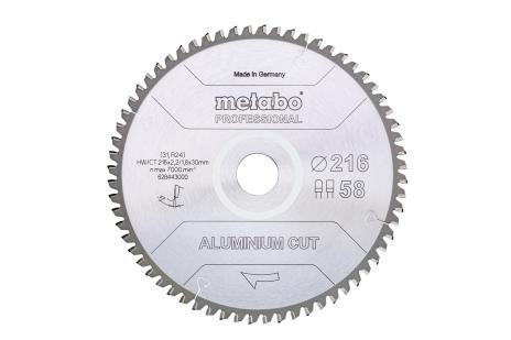 "Sägeblatt ""aluminium cut - professional"", 216x30 Z58 FZ/TZ 5°neg   (628443000)"