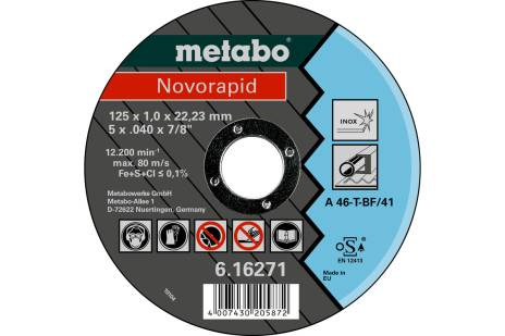 Novorapid 125 x 1,0 x 22,23 Inox, TF 41 (616271000)