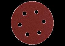 Slibeark Ø 80 mm med burrelås, 6 huller