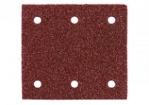 Slibeark med burrelås 103 x 115 mm, 6 huller