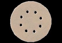 Slibeark Ø 125 mm med burrelås, 8 huller