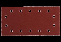 Slibeark med burrelås 115x230 mm, 14 huller