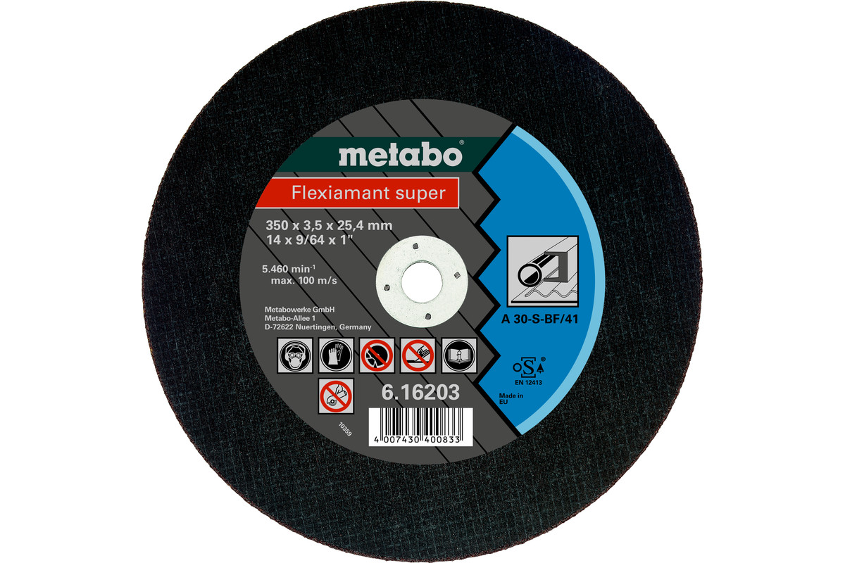 Flexiamant super 350x3,5x25,4 stål, TF 41 (616203000)