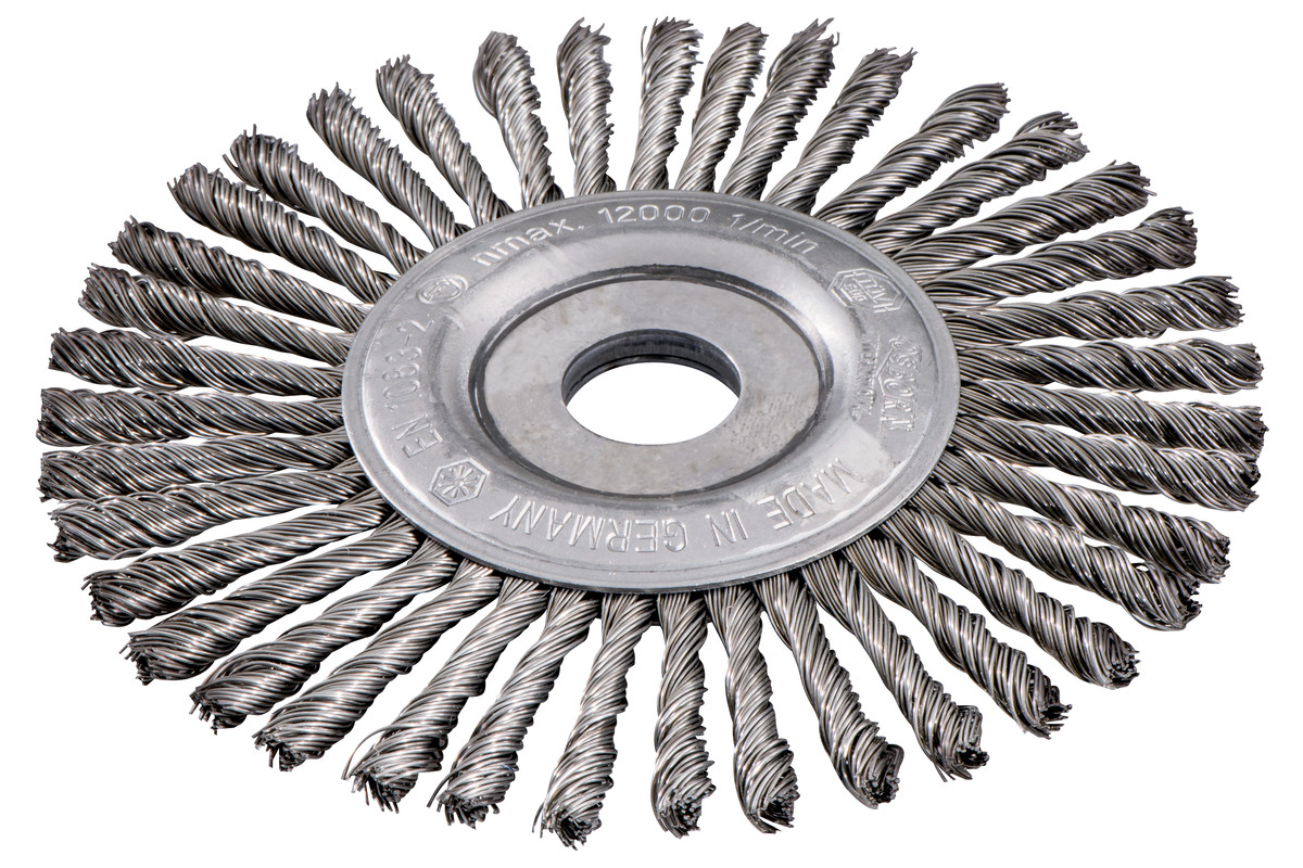 Rundbørste 150x0,5x6/22,23 mm, stål, flettet (626816000)
