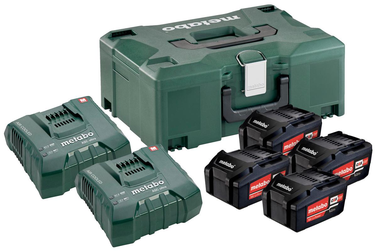 Basissæt 4 x 5.2Ah + 2 x ASC Ultra + Metaloc (685106000)