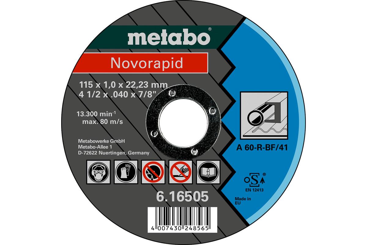Novorapid Ø 115 x 1,0 x 22,23 mm, stål, TF 41 (616505000)