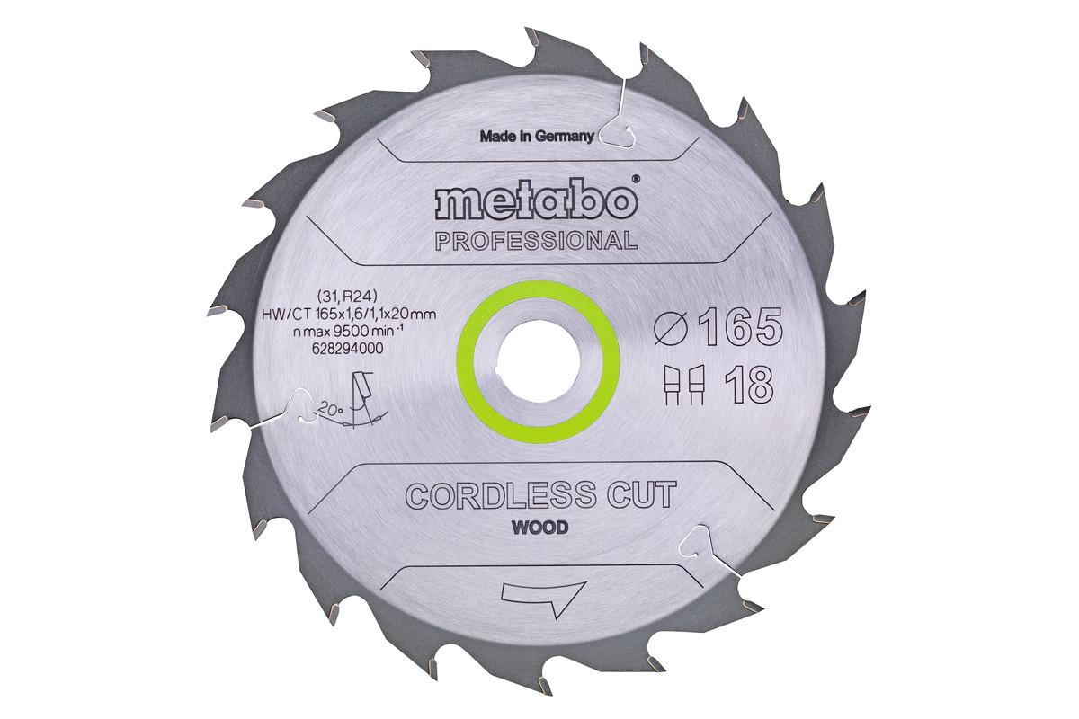 "Savklinge ""cordless cut wood - professional"", 165x20 Z18 WZ 20° (628294000)"