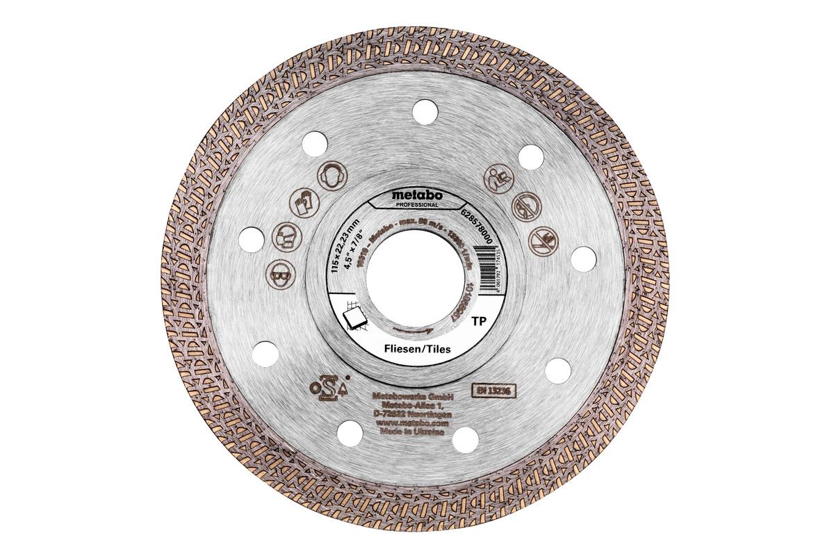 """Diamantskæreskive 115x22,23mm, """"TP"""", fliser """"professional"""" (628578000)"""
