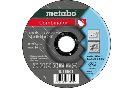 Combinator 125 x 1,9 x 22,23 mm, Inox, TF 42 (616501000)