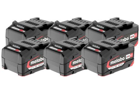 Sæt 6 x Li-Power batteri 18 V/4,0 Ah (625151000)