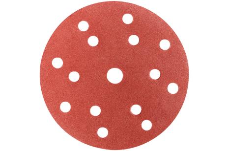 """50 slibeark med burrelås, 150 mm, P180, T+M, """"multi-hole"""" (626679000)"""