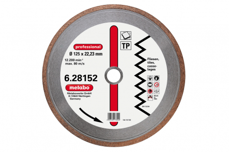 """Dia-TS, 125x1,7x22,23mm, """"professional"""", """"TP"""", flise (628152000)"""