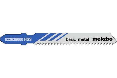 """5 stiksavklinger """"basic metal"""" 51/ 2,0 mm (623638000)"""