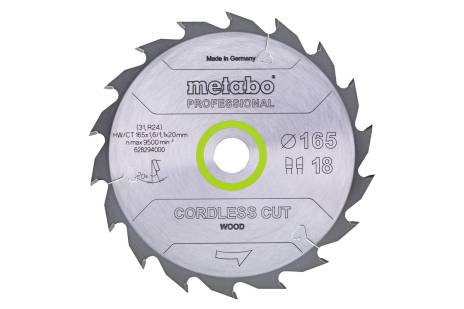 "Savklinge ""cordless cut wood - professional"", 160x20 (16), Z24 WZ 22° (628030000)"