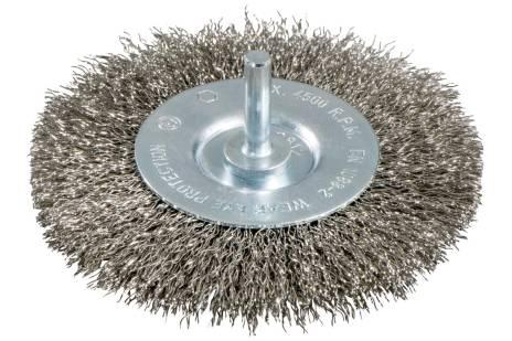 Rund børste 75x0,3 mm/ 6 mm, bølget rustfrit stål (630550000)