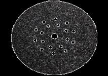 Takjakinnitusega lihvpaberid, 225 mm, 19 auku