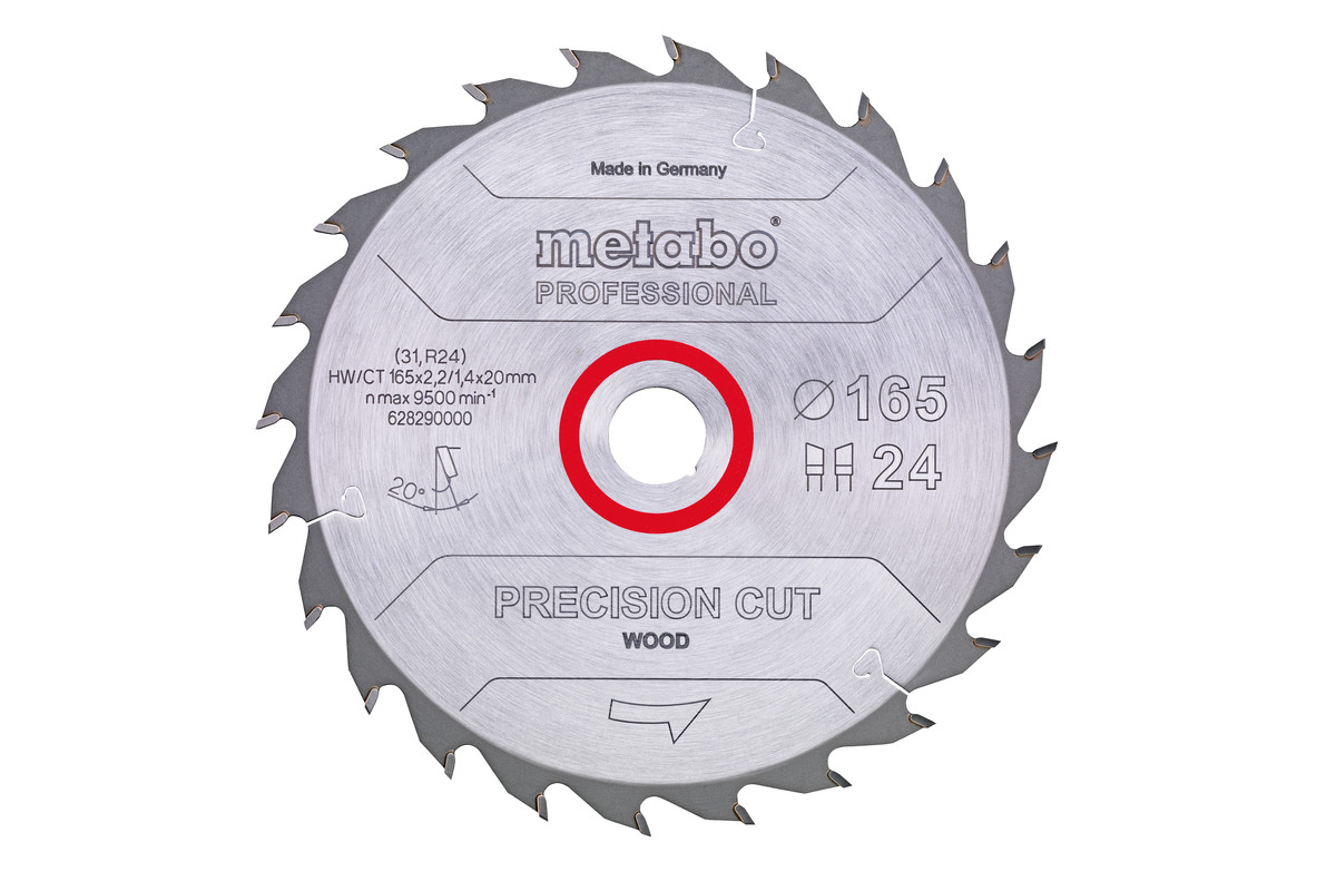 "Saeleht ""precision cut wood - professional"", 160x20, Z24 WZ 20° (628031000)"