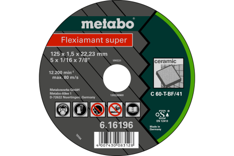 Flexiamant super 125x1,5x22,23 keraamiline materjal,TF41 (616196000)