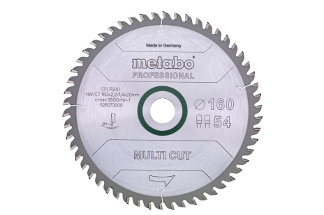 "Saeleht ""multi cut - professional"", 152x20, Z54 FZ/TZ 5° neg. (628070000)"