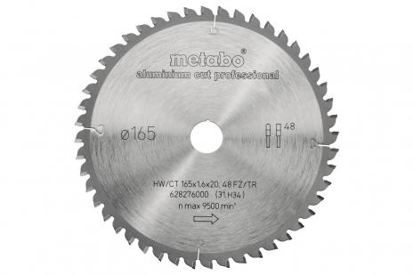 AluminiumCutProf 165 x 20 mm Z48 FZ/TR -5° (628276000)