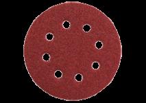 Hojas de lijar adhesivas Ø 125 mm, 8 perforaciones