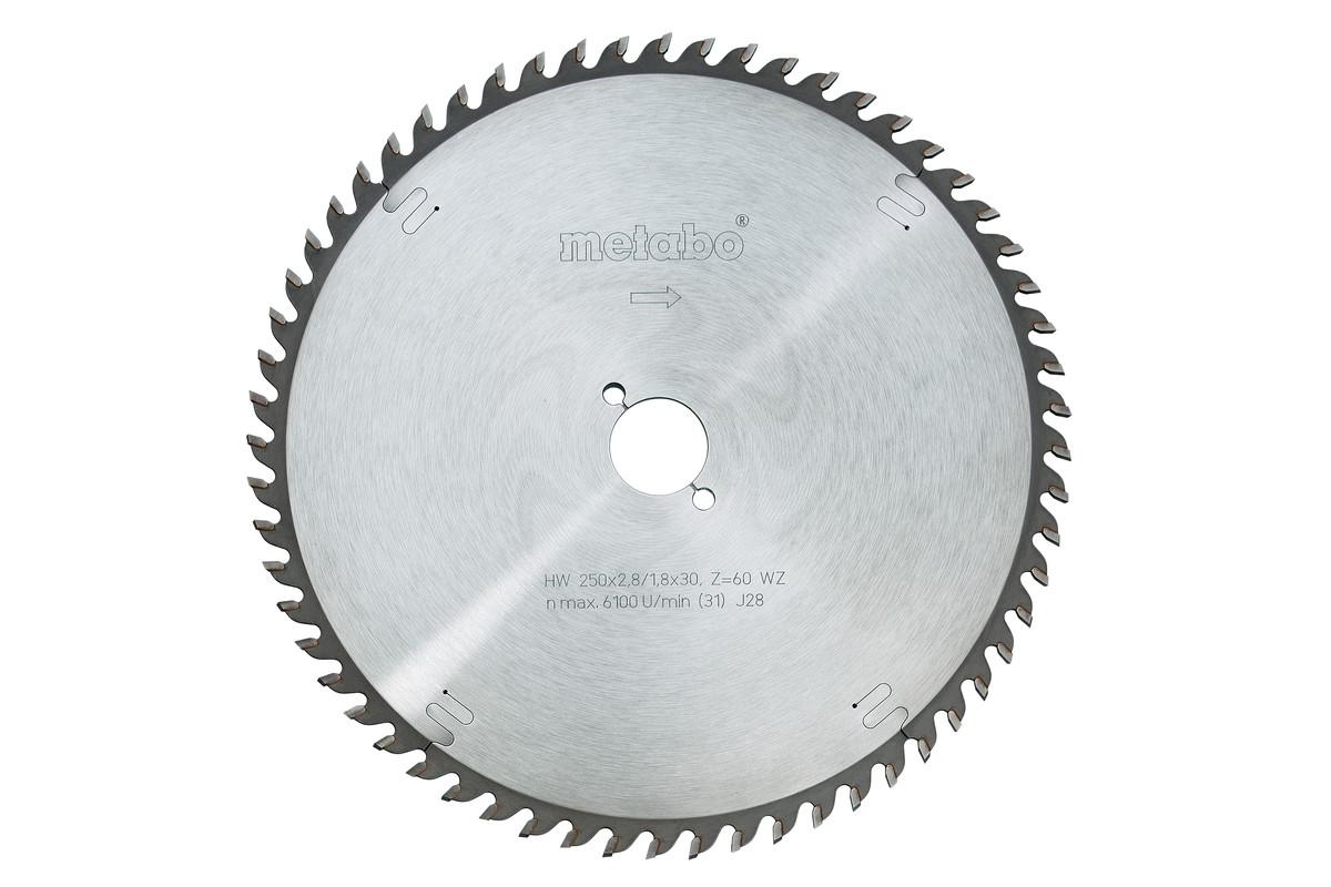Hoja de sierra circular HW/CT 250x30, 48 DI neg. de 5° (628047000)