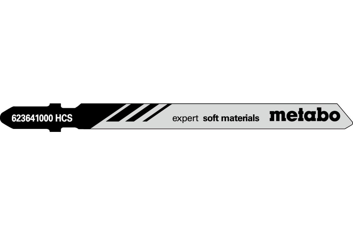"""5 cuchillas para sierra de calar """"expert soft materials"""" 74mm (623641000)"""