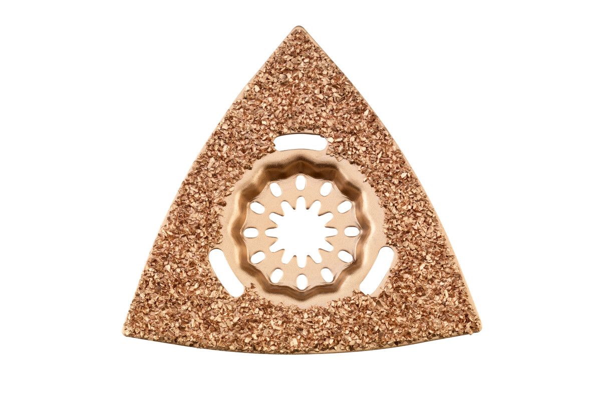 Placa abrasiva triangular, ranuras/emplaste, MD, 78 mm (626963000)