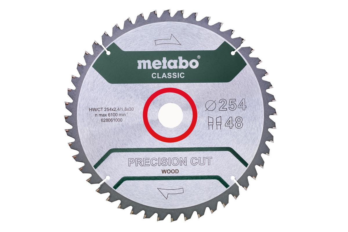 "Hoja de sierra ""precision cut wood - classic"", 254x30, D48 DI 5°neg. (628061000)"