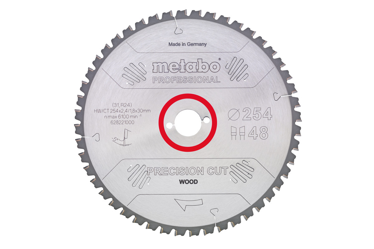"Hoja de sierra ""precision cut wood - professional"", 220x30, D36 DI 10° (628042000)"