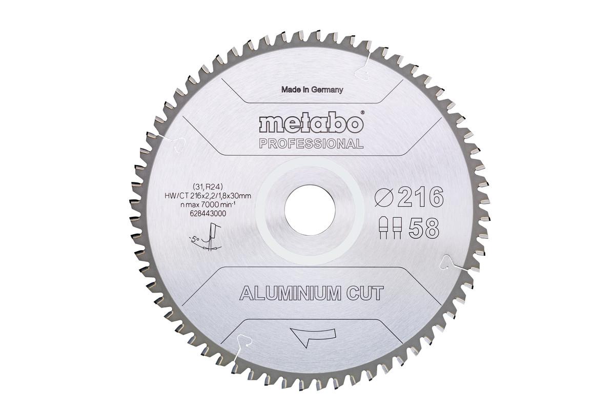 "Hoja de sierra ""aluminium cut - professional"", 254x30 Z72 DP/DT 5°neg (628447000)"