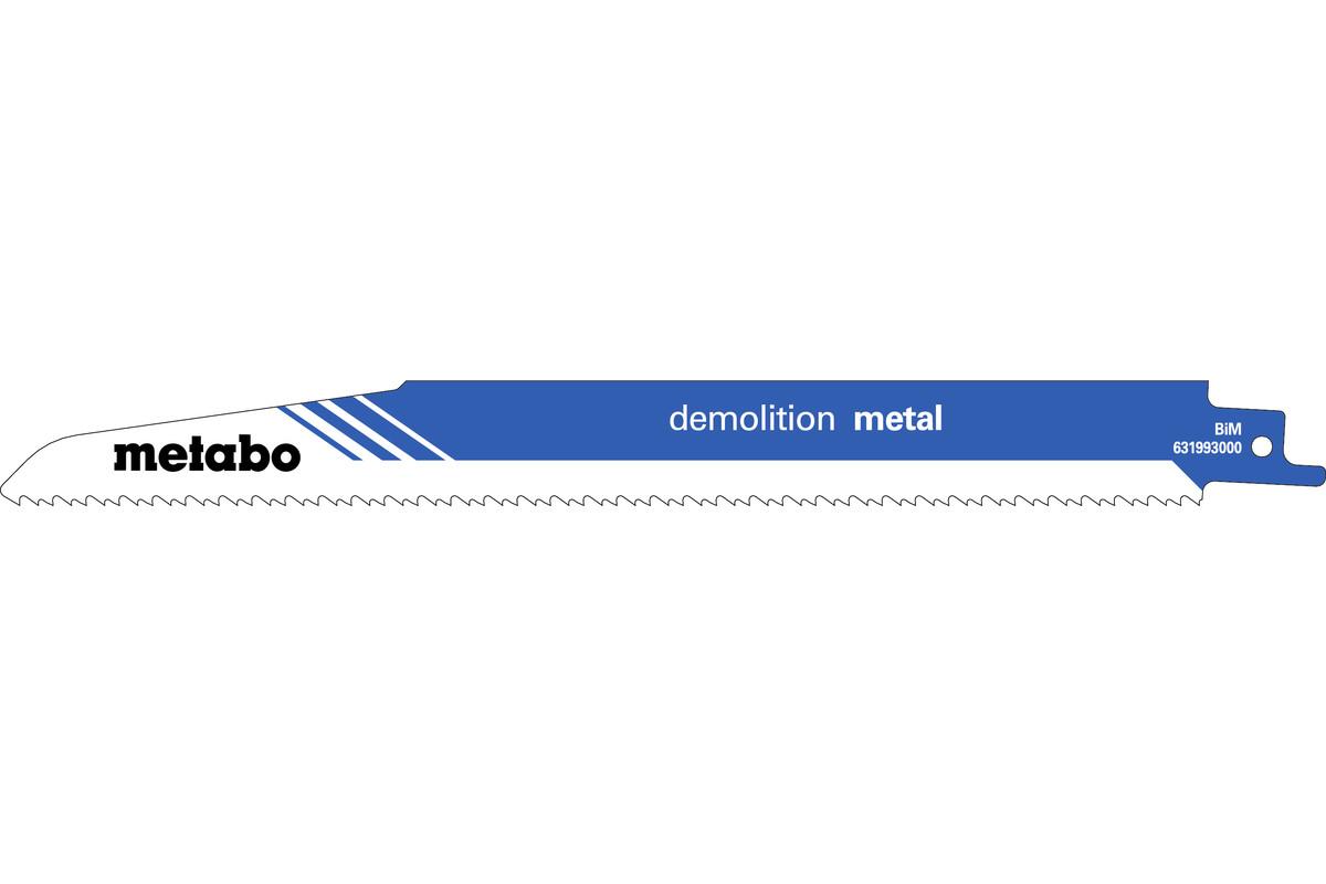 """5 hojas para sierras de sable """"demolition metal"""" 225 x 1,6 mm (631993000)"""