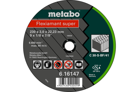 Flexiamant super 230x3,0x22,23 piedra, TF 41 (616147000)