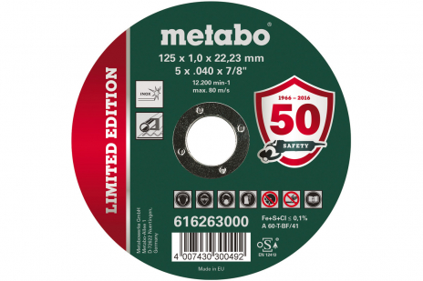 Edición limitada 125 x 1,0 x 22,23 Inox, TF 41 (616263000)