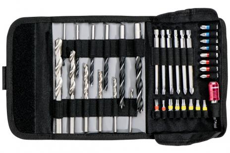 """Bolsa de rodillos con puntas y brocas """"SP"""", 35 piezas (626725000)"""